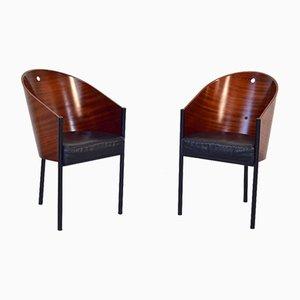 Sedie da pranzo Costes in acciaio smaltato e compensato di Philippe Starck per Driade, Italia, anni '80, set di 2