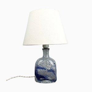 Tischlampe aus Klarglas mit Blauer Textur von Holmegaard