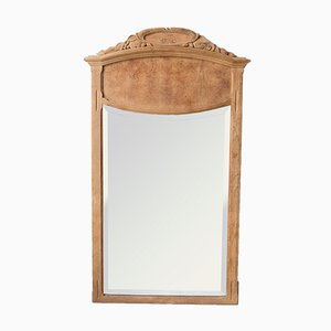 Art Deco French Oak Mirror