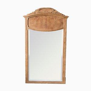 Französischer Art Deco Spiegel mit Rahmen aus Eiche