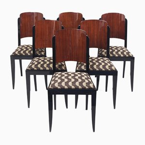 Art Deco Stühle von Jules Leleu, Frankreich, 1920er, 6er Set