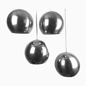 Topan Chrom Hängelampe von Verner Panton für Louis Poulsen, Denmark, 1967