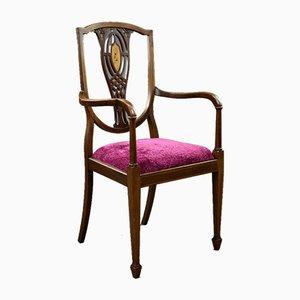Edwardian Mahogany Open Armchair