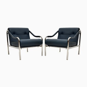 Vintage Leather Beta Armchairs from Pieff, Set of 2
