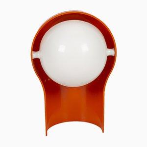 Orangefarbene Telegono Tischlampe von Vico Magistretti für Artemide