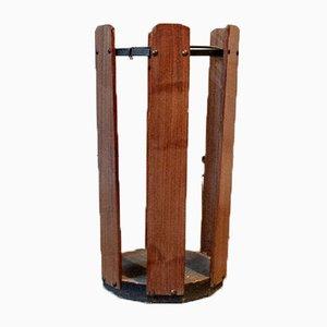 Portaombrelli in ferro e legno, anni '50
