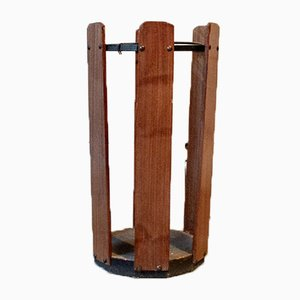 Umbrella Stand in Iron and Wood, 1950s
