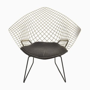 Weißer Diamond Chair von Harry Bertoia für Knoll