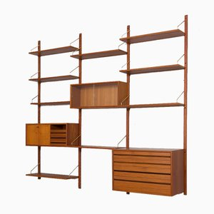 3-Bay Royal Wall Unit with 3 Cabinets and 9 Shelves by Poul Cadovius, 1960s