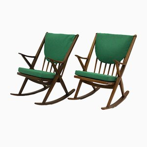 Rocking Chairs by Frank Reenskaug, Denmark, 1960s, Set of 2