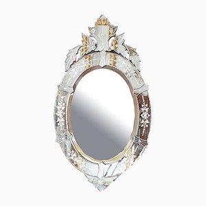 Venezianischer ovaler Spiegel, 1940er