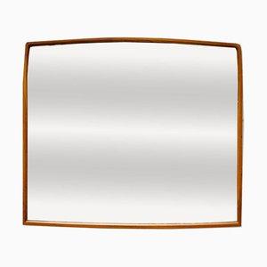 Specchio da parete vintage con cornice in teak