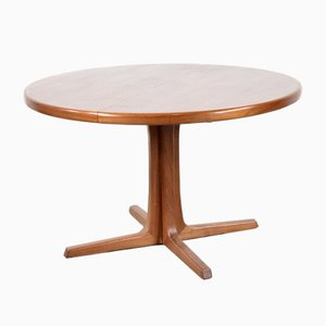 Round Danish Teak Extendable Dining Table from Skovby, 1960s