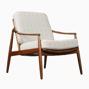 Mid-Century German Lounge Chair in Hermès Upholstery by Hartmut Lohmeyer for Wilkhahn, 1950s