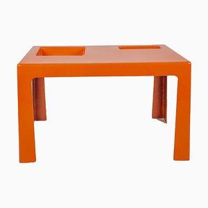 Tavolino da caffè in fibra di vetro arancione nello stile di Marc Berthier