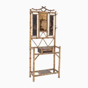 Französische Mid-Century Garderobe aus Bambus mit Chinoiserie Dekoration