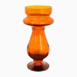 Orange Glasvase von Barbara Glassworks, Polen