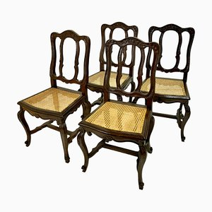 Chairs with Rattan Braid, France, 1750s, Set of 4