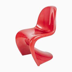 Burgunderroter S Stuhl von Verner Panton für Herman Miller / Fehlbaum, 1971
