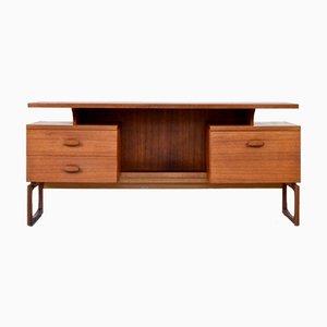Teak Schreibtisch mit schwebender Tischplatte von G-Plan, 1960er