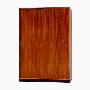 Zebrano Wood Wardrobe by Alfred Hendrickx for Belform, 1960s