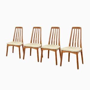 Skandinavische Mid-Century Esszimmerstühle aus Teak & Wolle, 1960er, 4er Set