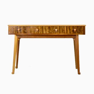 Walnut and Birch Console Table from Heals, 1960s