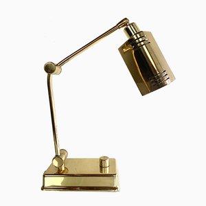 Vintage Messing Schreibtischlampe von Holtkötter