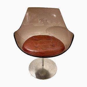 Champagne Tulip Chairs von Estelle und Erwin Laverne für Formes Nouvelles, 6er Set