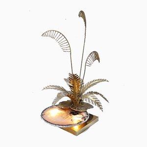 Skulpturale Lampe aus Achat von Henri Fernandez, Frankreich, 1970er
