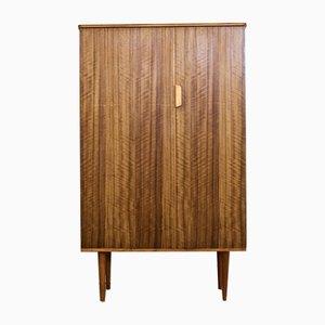 Mid-Century Walnut Compact Wardrobe from Uniflex, 1960s