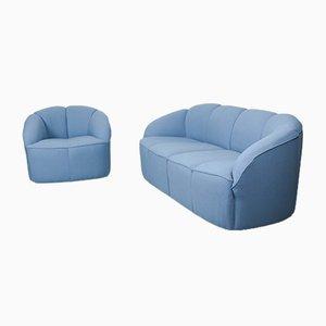 Piccolino Lounge Set in Kvadrat Tonus Upholstery from Walter Knoll / Wilhelm Knoll, Germany, 1960s, Set of 2