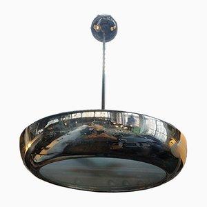 Nickel-Plated Pendant Lamp by Vladimir Havel for Napako Praha, 1930s