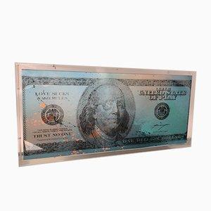 Billion Dollar Bill Sculpture by Max Wiedemann, 2015