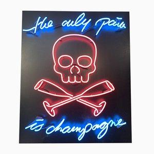 Champagne Neon Lampe von Maximilian Wiedemann, 2015