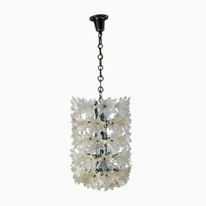 Lámpara de araña de Paul Venini para Veart, Italy, años 60