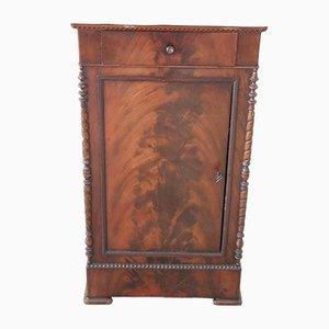 Antiker Nachttisch aus Mahagoni & Marmor, 1825