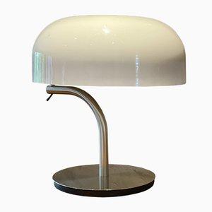 Tischlampe aus Metall & Plexiglas von Giotto Stoppino, 1970er
