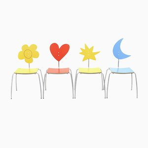 Colored Chairs by Agatha Ruiz de la Prada for Amat-3, 2000s, Set of 4