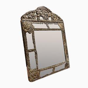 Antique Bronze Foil Mirror, 18th-Century, France