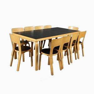 Mid-Century Dining Set by Alvar Aalto for Artek, 1955