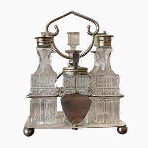 Kristall & Silber Gewürz Set mit Schild & Wappen, 7er Set