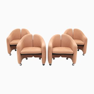 PS 142 Armchairs by Eugenio Gerli for Tecno, 1960s, Set of 4