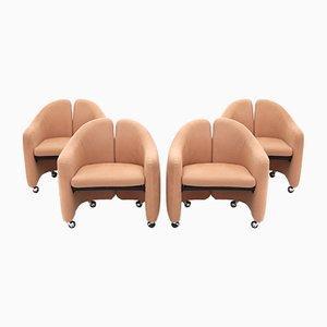 PS 142 Armlehnstühle von Eugenio Gerli für Tecno, 1960er, 4er Set