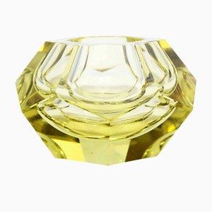 Posacenere a forma di diamante in vetro di Murano