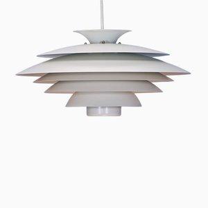 Danish Pendant Lamp in White from Form Light, 1970s