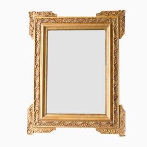 Französischer Napoleon III Spiegel mit goldenem Rahmen
