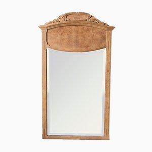 Antique French Oak Mirror