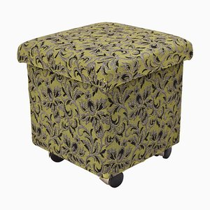 Mid-Century Footstool with Wheels, 1970s