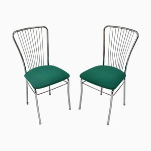 Mid-Century Chrome Chairs, 1980s, Set of 2